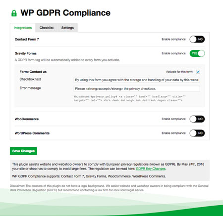 4 GDPR Compliance Plugins for WordPress