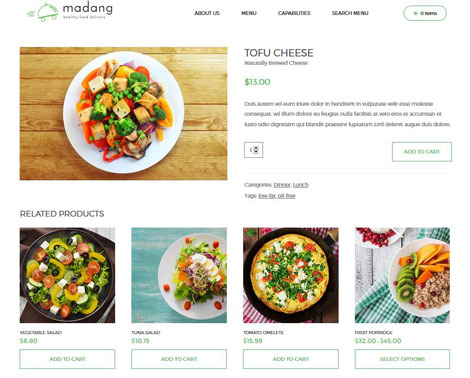 Madang WordPress Theme for Food Delivery & Subscription Box Businesses