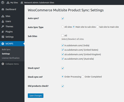 WooCommerce Multisite Product Sync Plugin