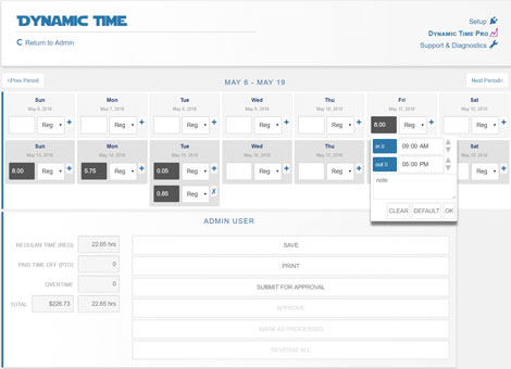 Dynamic Time: Calendar Based Time Card WordPress Plugin
