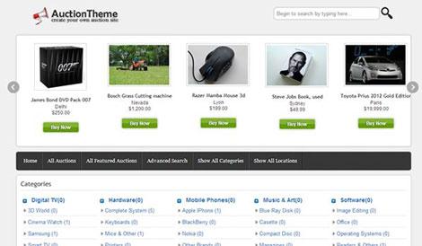 Responsive WordPress Reverse Auction Theme