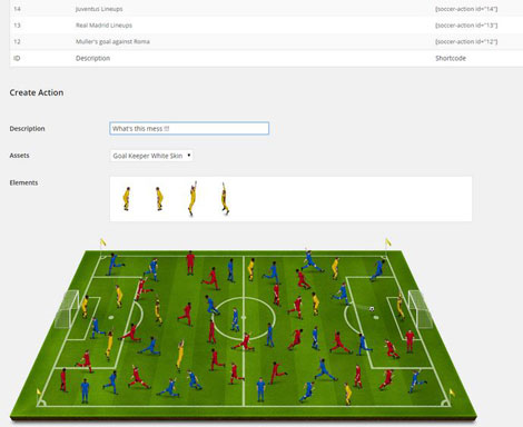 Soccer Action: Drag & Drop Soccer Tactics Plugin for WordPress
