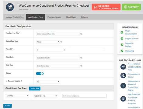 WooCommerce Conditional Product Fees for Checkout Plugin