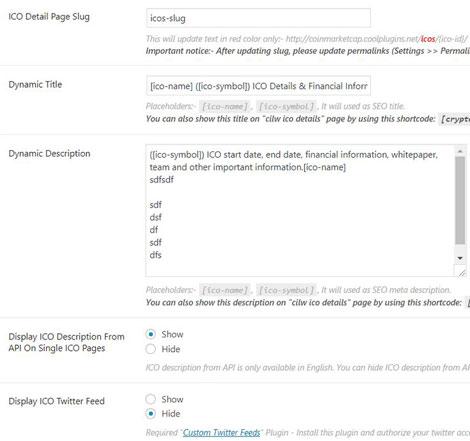 Crypto ICO List Widgets Pro: ICO Database Plugin for WordPress