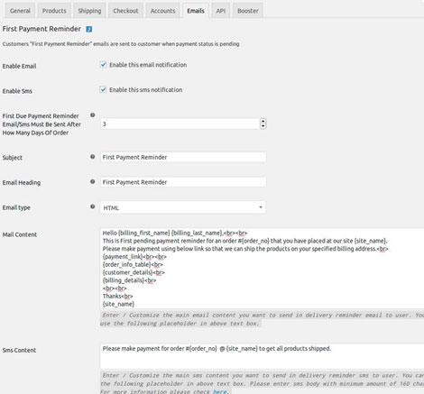 WooCommerce Reminder Emails Plugin