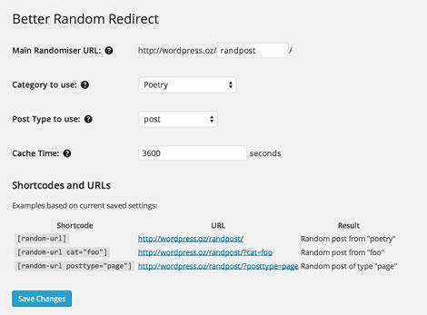 Better Random Redirect for WordPress