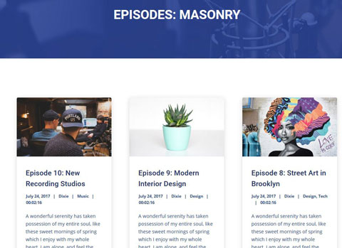 Dixie: WordPress Theme for Podcasts with Elementor - WP Solver