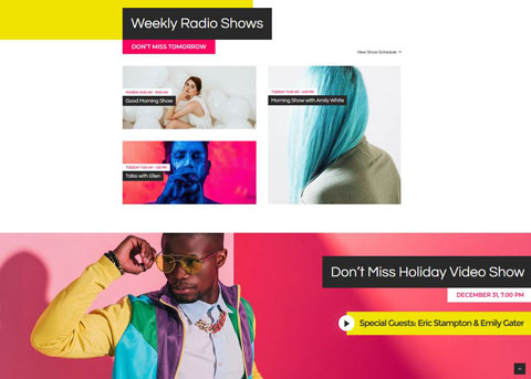 Sounder: Online Radio WordPress Theme