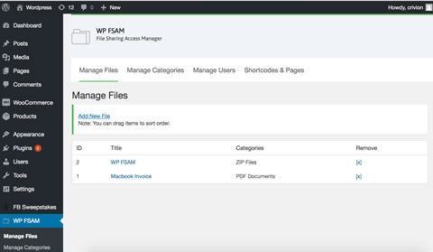 WP FSAM: File Sharing Plugin for WordPress