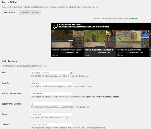 Twitch TV Rail: Easy Embed Twitch Streams In WordPress Posts