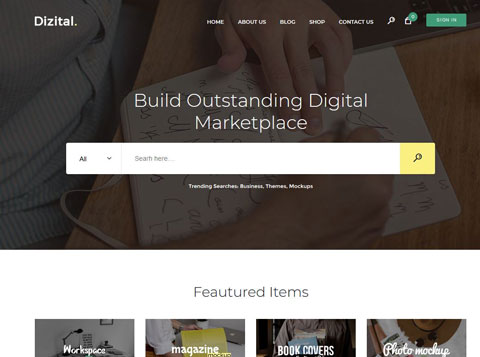 Dizital: Easy Digital Downloads WordPress Theme
