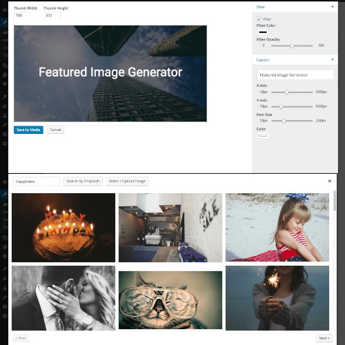 Featured Image Generator for WordPress