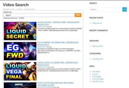 Vidopticon: Video Search Engine for WordPress