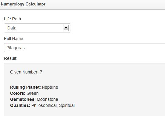 Numerology Calculator for WordPress