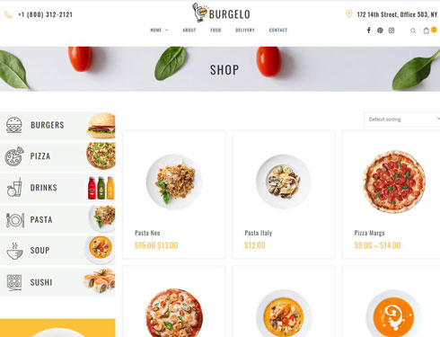 Burgelo: Food Delivery Theme for WooCommerce